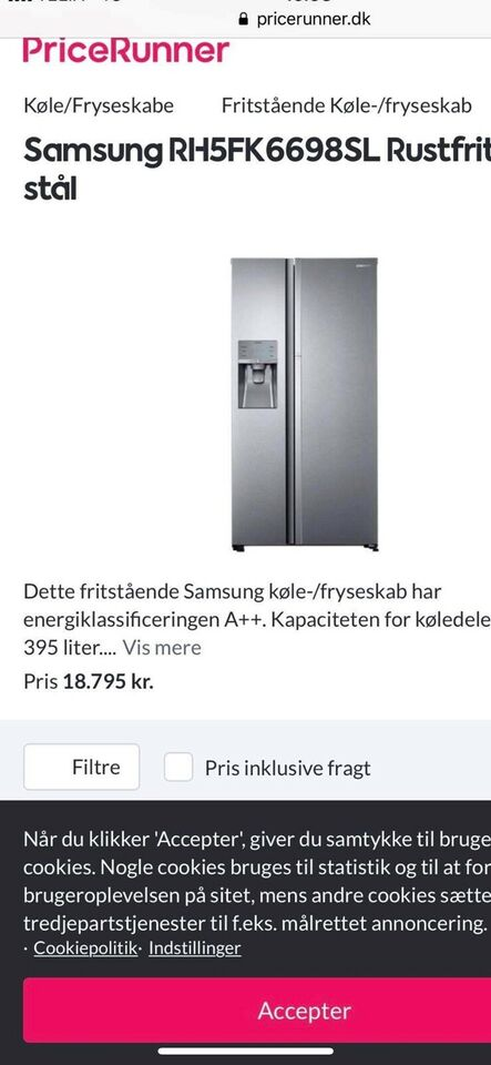 Amerikaner køleskab , Samsung