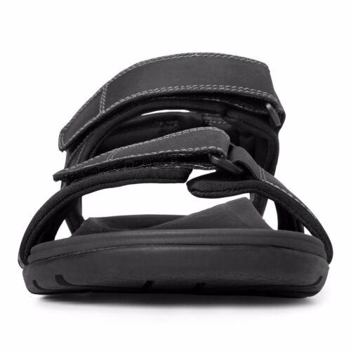 Vionic Orthotic Mens Gerrit Adjustable Sandal Black