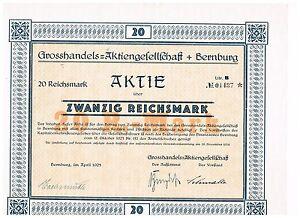 Grosshandels-AG-Bernburg-1925-20-RM-ungelocht
