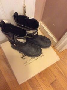 Burberry-Kids-Mini-Holloway-Novacheck-Rain-Boots-Size-29-NWB