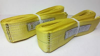 """Lunmar Boat Lift Slings 4/"""" x 20/' Weighted Nylon Sling W// Keel Pads"""