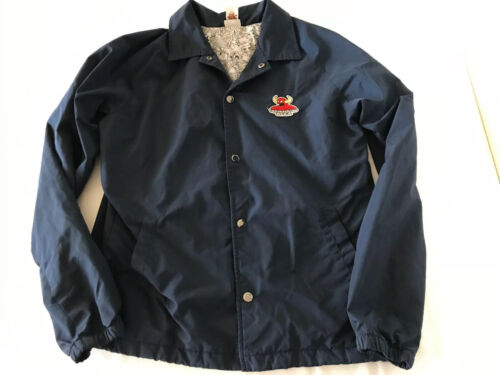 Toy Machine/RVCA Snap Front Blue Jacket Mens Small