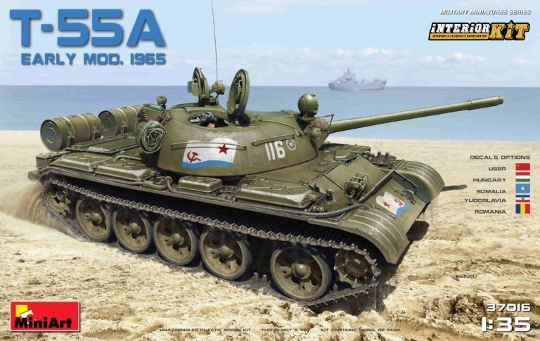 Miniart 1 35 T-55A Early Mod.1965 Interior Kit New REleasesealed
