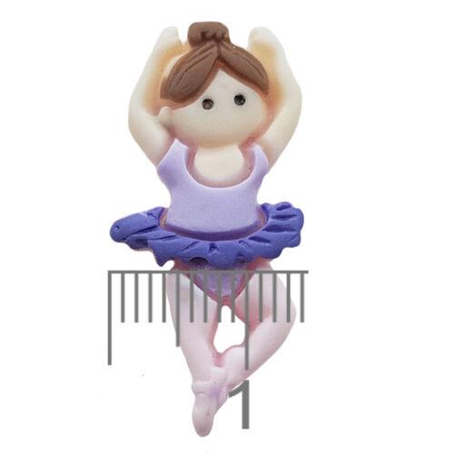 3pcs Mignon Ballet Filles Resin Flatback Cabochons Embellissement DEcoden Carte Craft