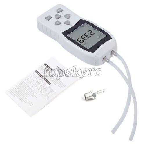 Handheld LCD Differential Gauge Tester Digital Manometer Air Pressure Meter Top