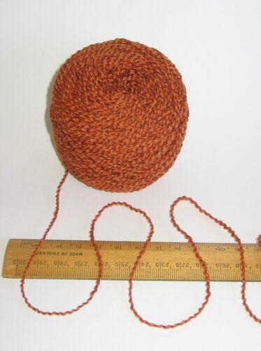 50g Arancione Bruciato 100/% Pura Lana per maglieria filato 4 strati ideale per Knit Feltratura Feltro