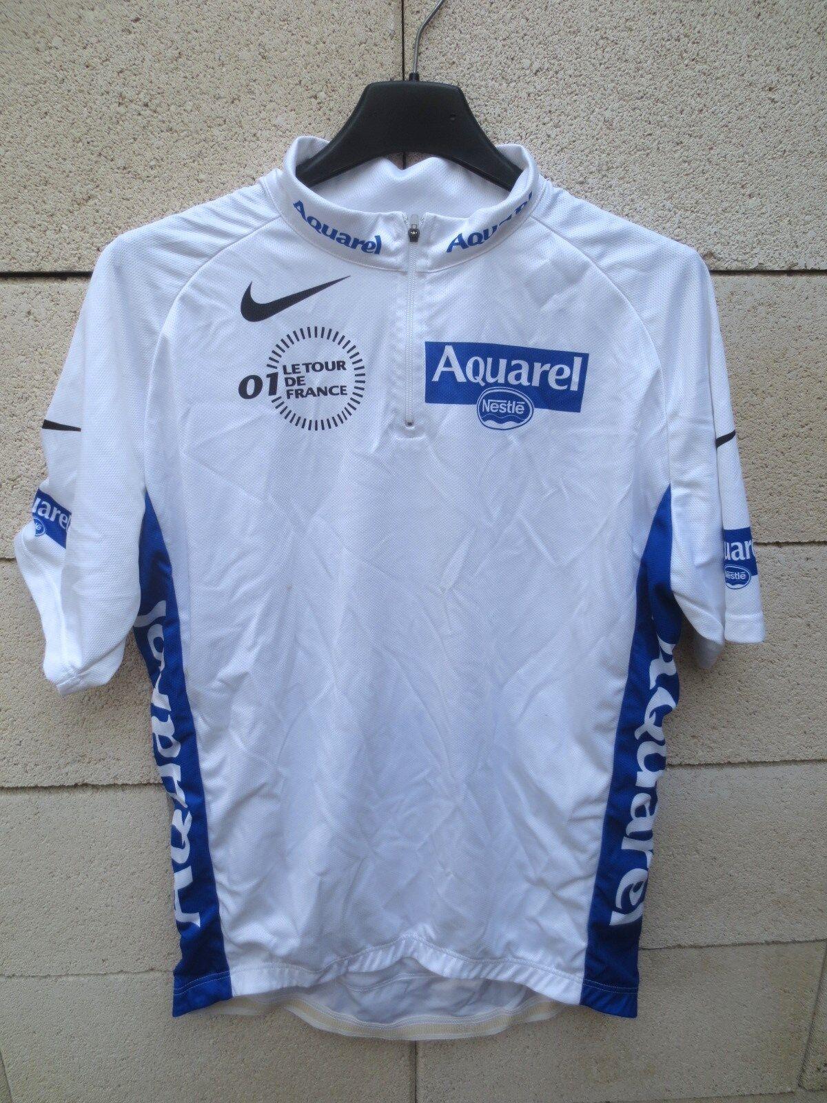 Maillot cycliste white Tour de France 2001 NIKE shirt jersey camiseta SEVILLA L