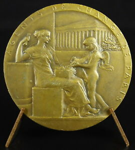 Medal-Agents-of-Change-Sc-o-Roty-1898-Stockbroker-Allegorie-Winged-Girl-Medal
