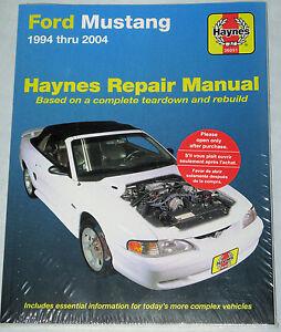 ford mustang haynes manual 1994 2004 sn95 95 96 97 98 1999 2000 rh ebay co uk Clymer Manuals Lawn Boy 10323 Manual