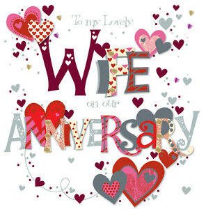 Lovely wife wedding anniversary greeting card 8 square handmade image is loading lovely wife wedding anniversary greeting card 8 034 m4hsunfo
