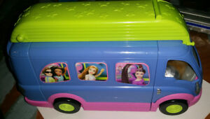 Camping Car Musical Polly Pocket Fashion Apparence Brillante Et Translucide