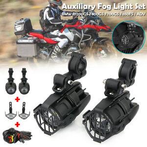 Motorrad-LED-Nebelleuchte-Zusatzscheinwerfer-Gitter-Kabelbaum-fuer-BMW-R1200GS