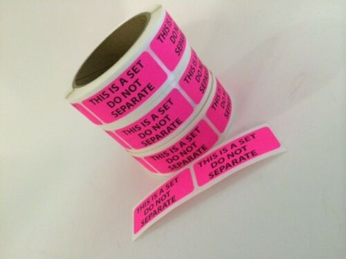 100 1 x 2.5 THIS IS A SET DO NOT SEPARATE Stickers labels PINK Fluorescent SHIP