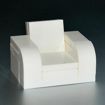 LEGO Furniture: White Arm Chair - Complete w/ Instructions  [minifigure,set,lot]
