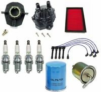97-01 Tune Up Kit Wires Distributor Cap Rotor Spark Plugs Filters Fits Altima on sale