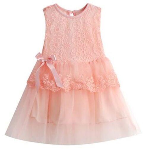 SKU376 Bebé niñas flor de verano arco de Boda Fiesta Vestido Tutú de Encaje Bautizo