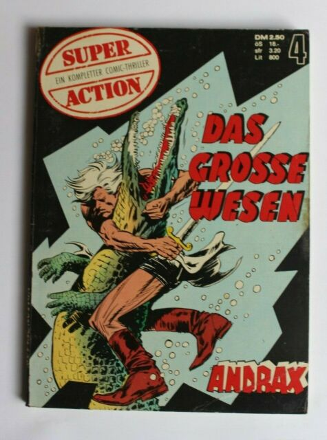 SUPER ACTION COMIC Thriller Nr. 4 - ANDRAX  - GEVACUR Taschenbuch - 1974