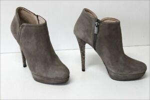 MICHAEL KORS  Bottines Boots Daim Gris Clair Talons Aiguilles Reptile T 41 TBE