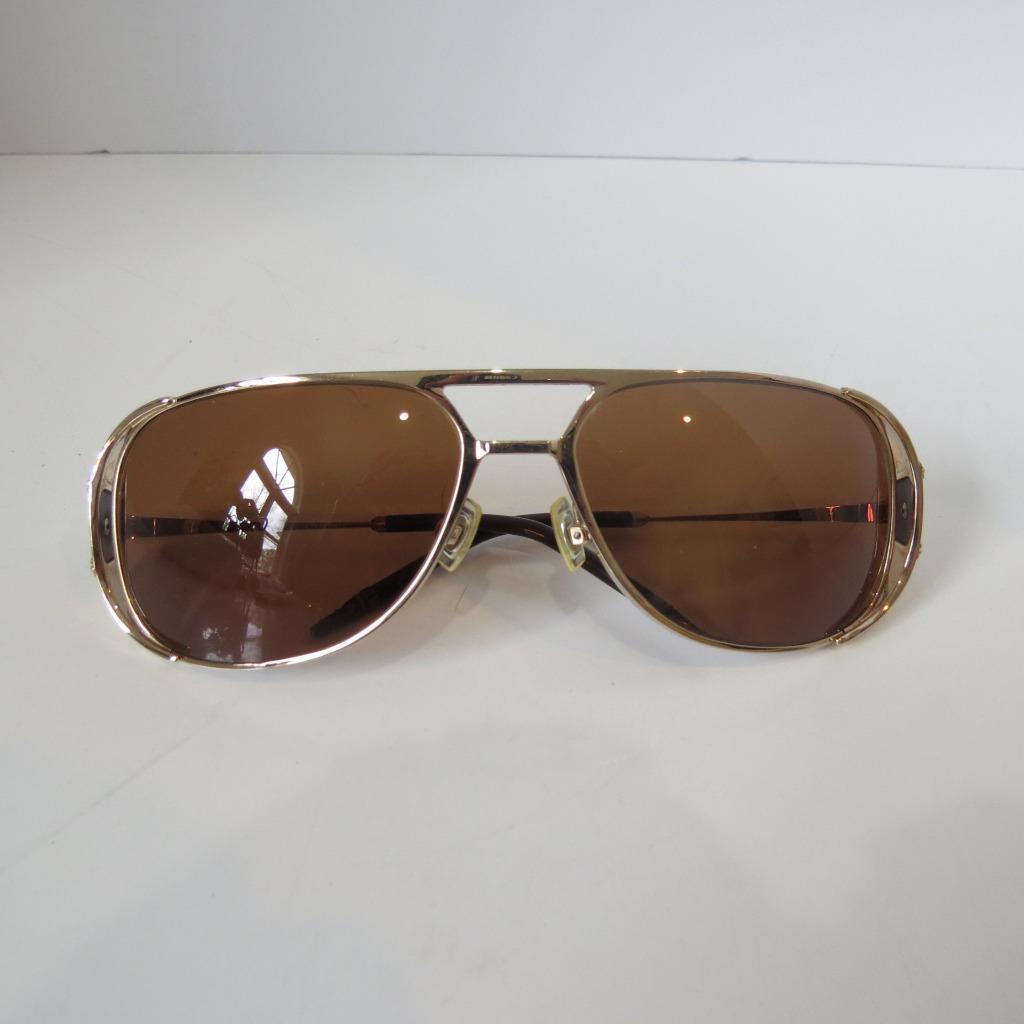 Chrome Hearts 'Jones' Gold Frame/Brown Lens Aviator Sunglasses