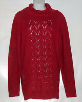 Carolyn Taylor Ladies Long Sleeve Cowl Neck Sweater Top Persian Red Small (s)