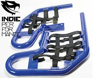 Yamaha-Raptor-660-2001-05-Quad-ATV-Nerf-Bars-Nets-amp-Fittings-Blue-Ano-BlkN-07