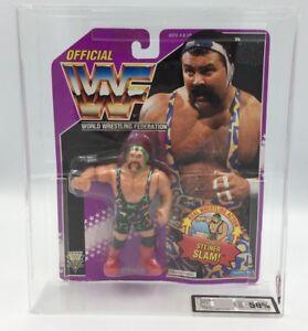 Wwf Hasbro Rick Steiner Cardé Figure-ukg Pas Afa Classé!   Série 9 Carte Pourpre!