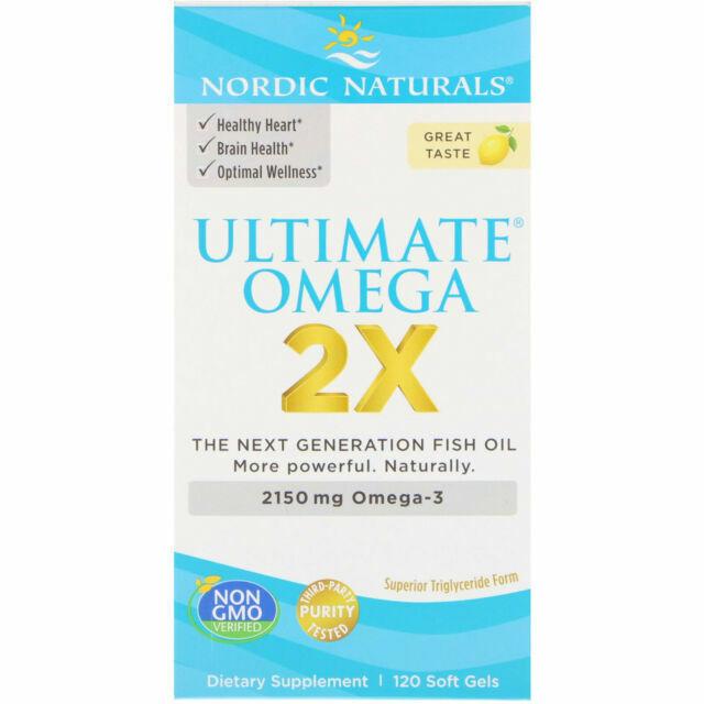 Nordic Naturals Ultimate Omega 2x Supplement 120 Sofgels For Sale Online Ebay