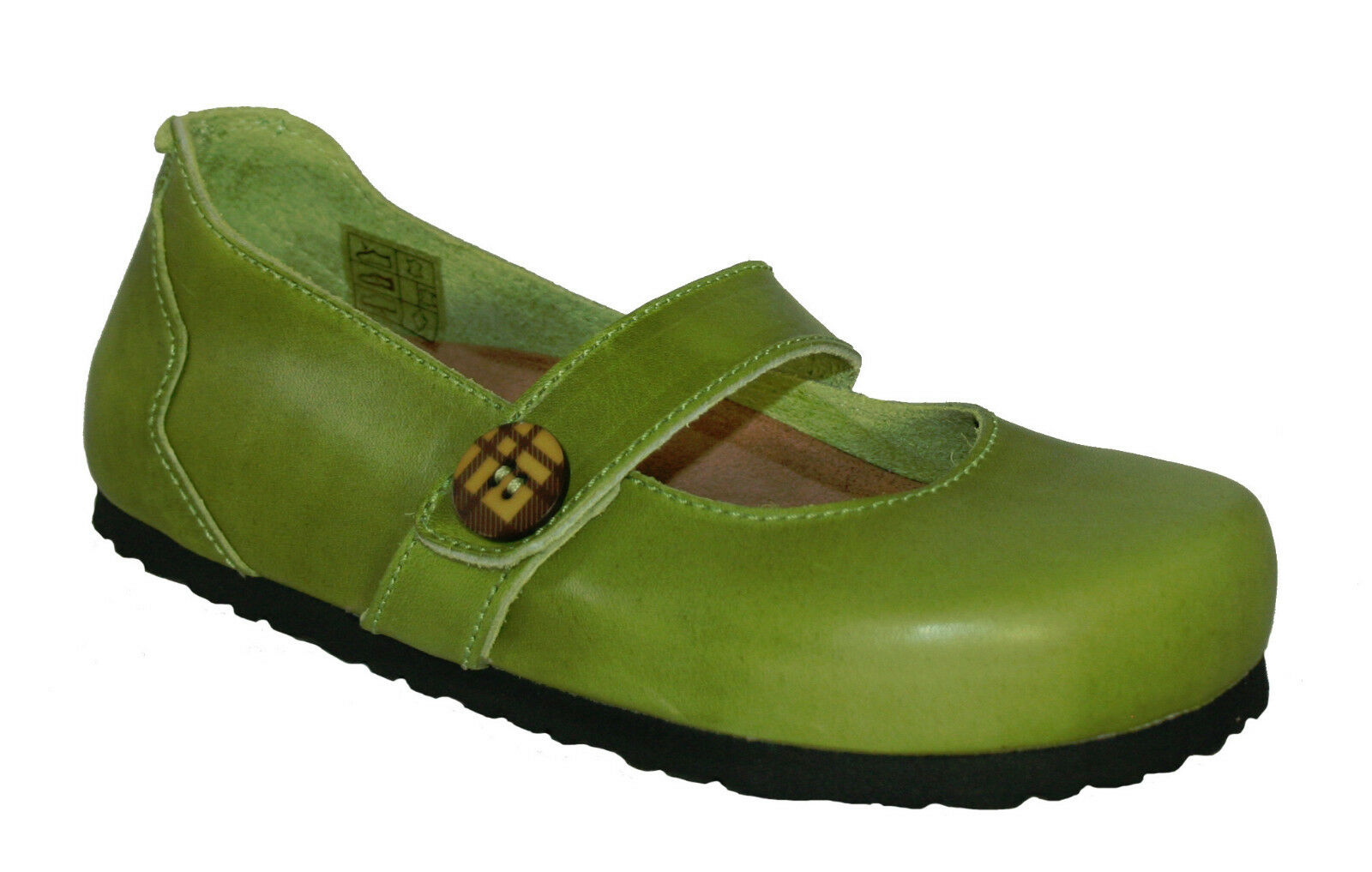 Oxygen Footbed shoes Hastings Apple Green sizes 36-41 (UK 3-8)
