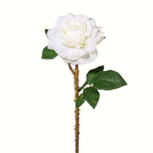 Kunstblume Seidenblume Rosen 1 Stück Ca 60 cm 2016001-40 ROSE Weiß WEISS