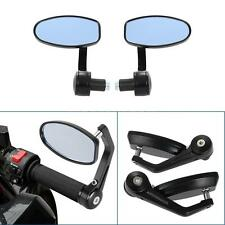 "Pair of Universal Motorcycle Bar End Rearview Mirror 7/8"" Black 360° Swivel A5O9"