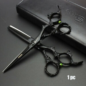 6-034-Black-Hair-Cutting-Scissors-Hairdresser-Clipper-Japanese-Hairdressing-Scissors