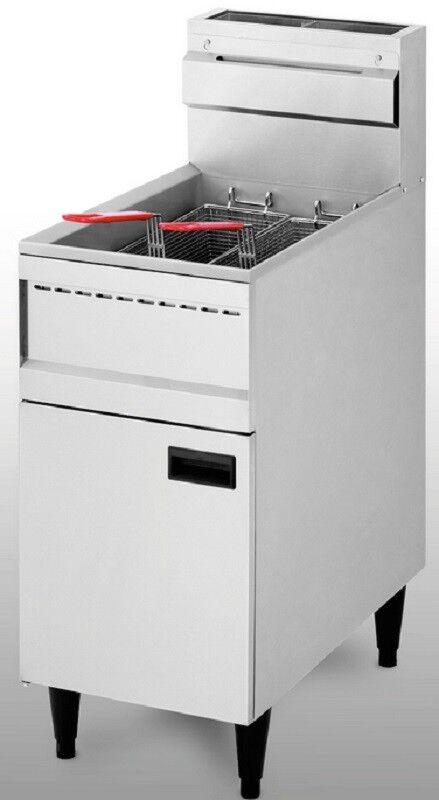 Gaz Friteuse Friteuse Friteuse 100-200 ° C 23 L 21 kW 400x735x870mm gastlando