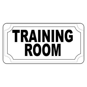training room black retro vintage style metal sign 8 in x 12 in