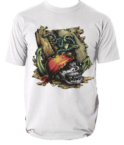 Homme Mort Pirate Crâne T-shirt graphique homme Tee Taille S-3XL