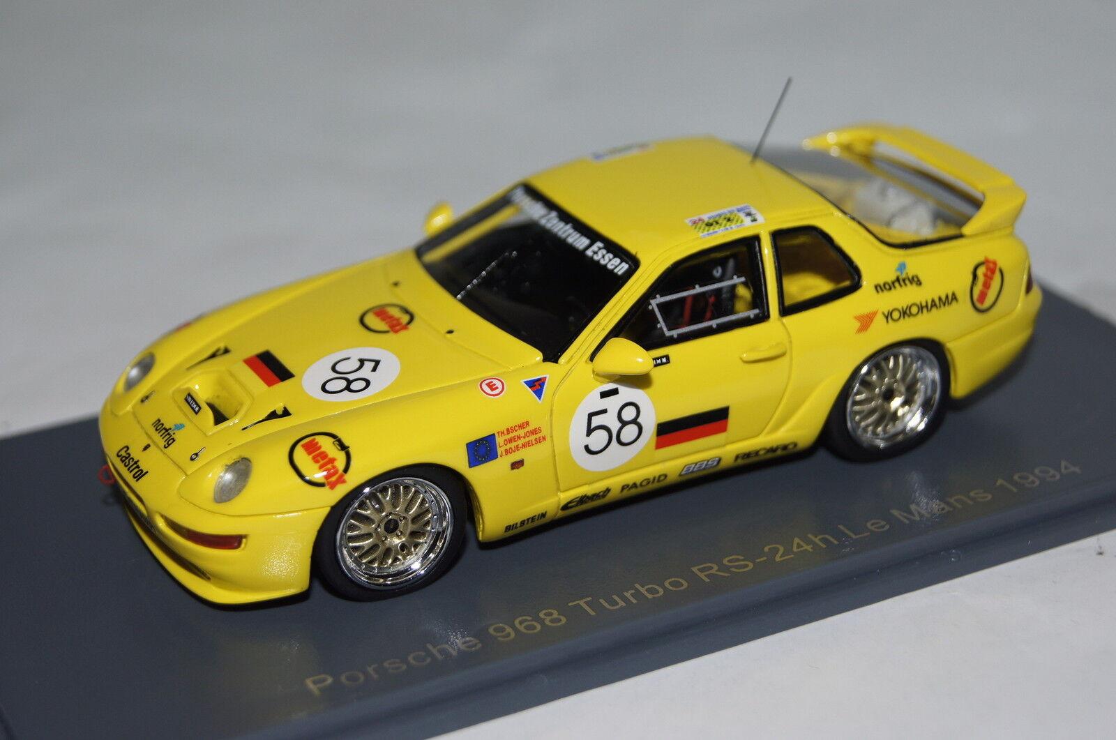 Porsche 968 Turbo RS Lemans 24h giallo 1 43 neo nuevo & OVP 43837