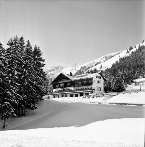 AUTRICHE c. 1960 - Berghôtel Mooserkreuz Sankt Anton - Négatif 6 x 6 - Aut 174