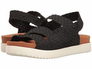 Crisp Damesschoenen bandjes sandaal met nieuw Bernie Mev Zwart Casual handgeweven EqgrE0H