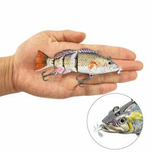 1PC Plastic Fishing Lures Robotic Swimming  Lure Bait Wobblers For 4-Segment New