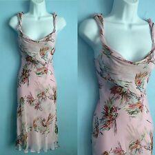 Diane von Furstenberg DVF Silk Bias 2 XS S DRESS Blush Pink Floral Abstract RARE