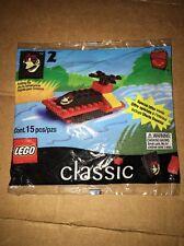 1999 Classic Lego Bag Set #2 Ronald McDonald Happy Meal Boat Plane 15 Pcs Sealed