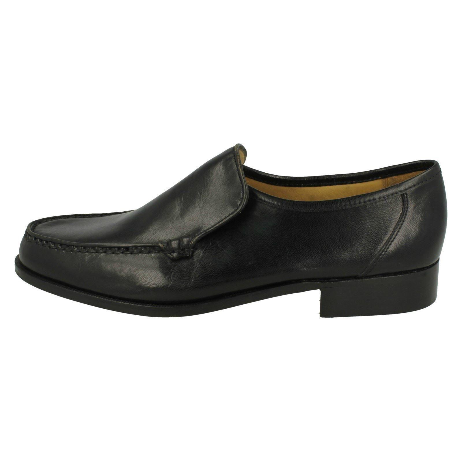 Herren Illinois von schwarzes Leder Hineinschlüpfen Schuh von Illinois Thomas Blunt f0bc5f