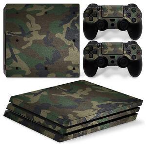 Details Zu Playstation 4 Ps4 Pro Vinyl Skin Folie Aufkleber Sticker Camouflage Bund Army