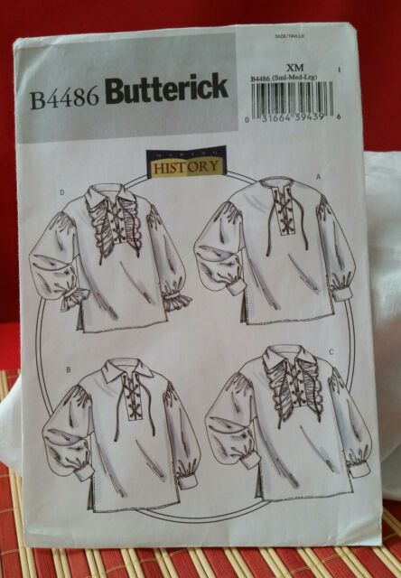 SML-MED-LRG Butterick Schnittmuster Herren Shirt 44-50 BTK 6644 XM