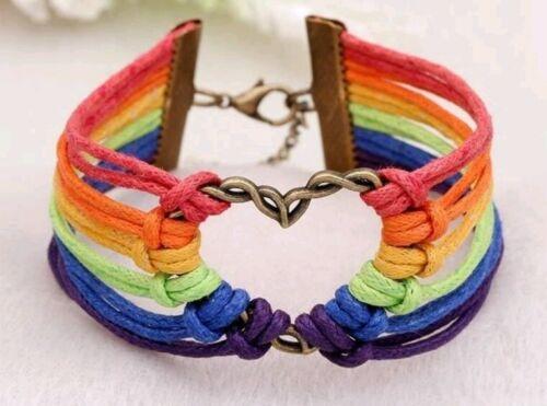 Pulsera corazón-arco Iris Orgullo Gay Amor gana