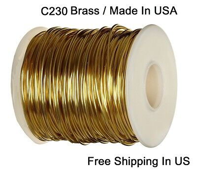 10 OZ  SOFT  SOLID WIRE WRAPPING ON SPOOL RED BRASS ROUND WIRE 20 GA  220 FT
