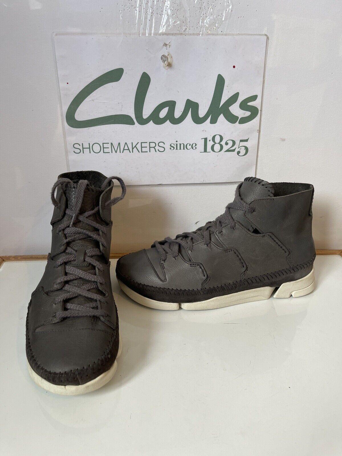 Clarks Original Trigenic Flow Vibram Leather Boots Size UK 8.5 EU 42.5