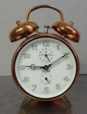 vintage alarm clock - Grosser mechanischer Peter Wecker Doppelglocke Kupfer Uhr