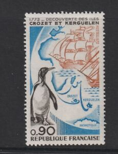 France - 1972, Discovery of Crozet Island, Penguins Bird stamp - MNH - SG 1948