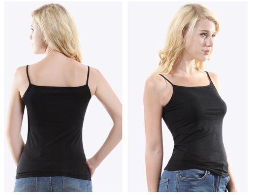 Eco Wear Bamboo Organic Bodywear Cami Top Vest Spaghetti Strap 3 Colours
