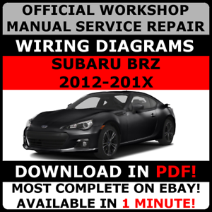 official workshop service repair manual for subaru brz 2012 2017 subaru loyale wiring diagram image is loading official workshop service repair manual for subaru brz